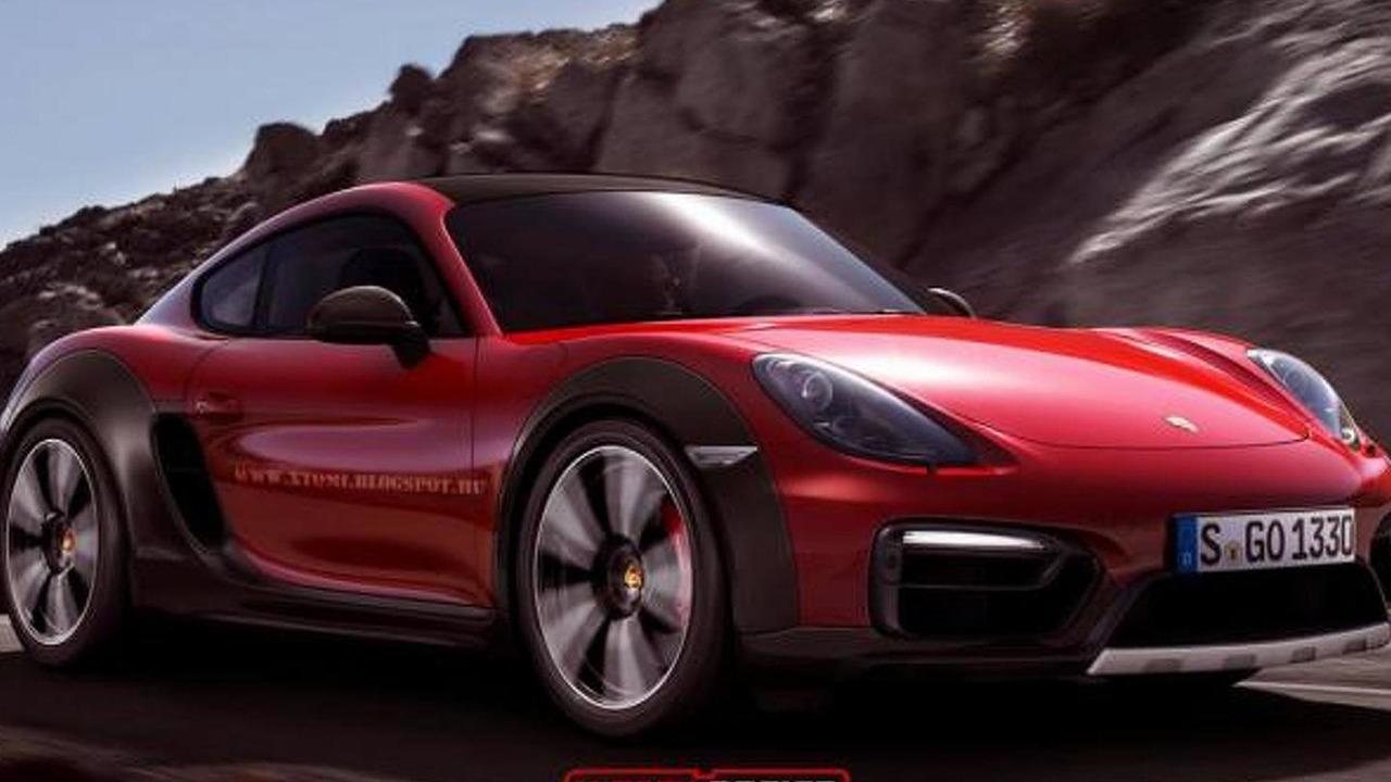 Porsche Cayman Safari render