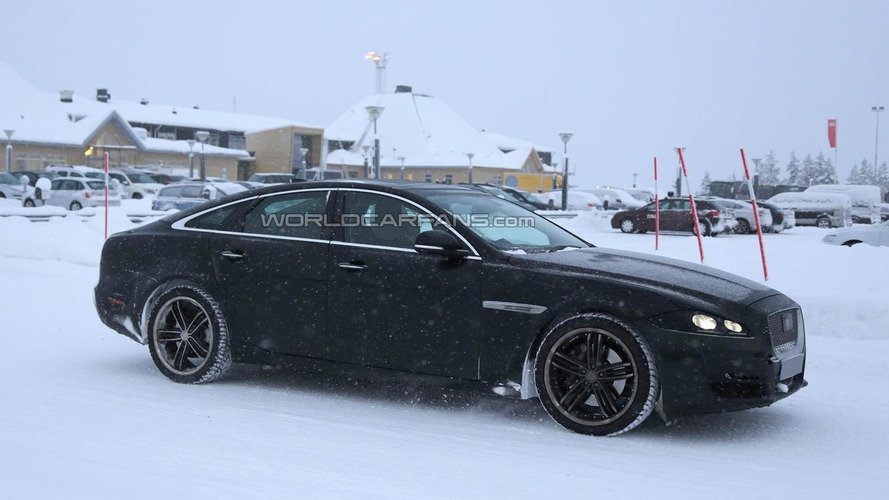 2015 Jaguar XJ spied carrying minor camouflage