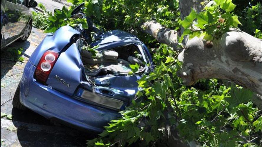 Rc auto, solo 1 italiano su 10 si assicura contro gli eventi naturali
