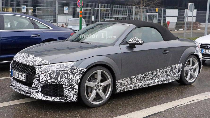 Camouflaged Audi TT RS spied hiding imminent facelift