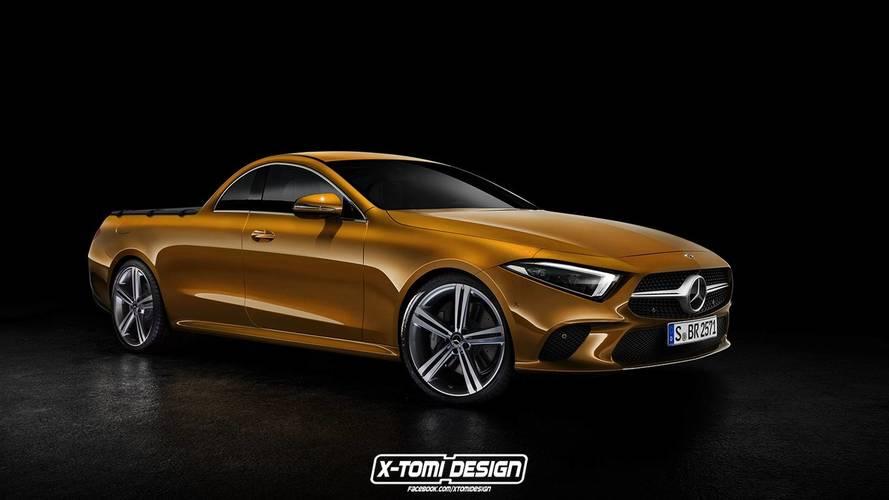 Mercedes-Benz CLS pick-up render 2019