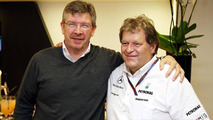 Ross Brawn (GBR) Team Principal, Mercedes GP Petronas, Norbert Haug (GER), Mercedes, Motorsport chief - Formula 1 World Championship, Rd 6, Monaco Grand Prix, 12.05.2010 Monte Carlo
