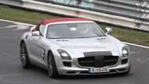 2012 Mercedes Benz SLS AMG Roadster spied undisguised