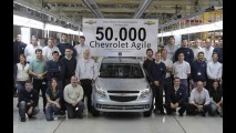 Chevrolet comemora a marca de 50.000 unidades produzidas do Agile