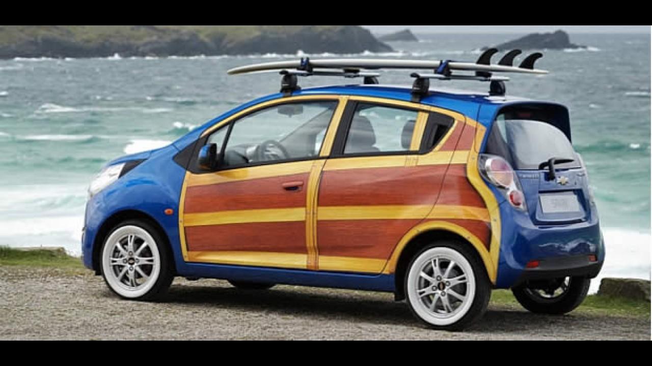 Chevrolet Spark personalizado para surfistas