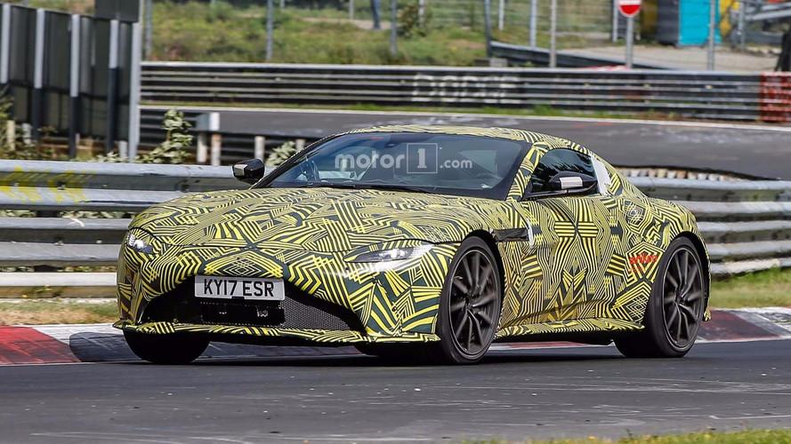 Aston Martin Vantage 2018, fotos espía en Nürburgring
