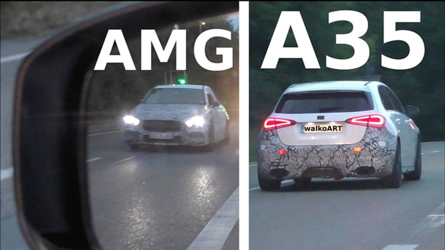 Mercedes-AMG A35 Briefly Spied From The Rearview Mirror