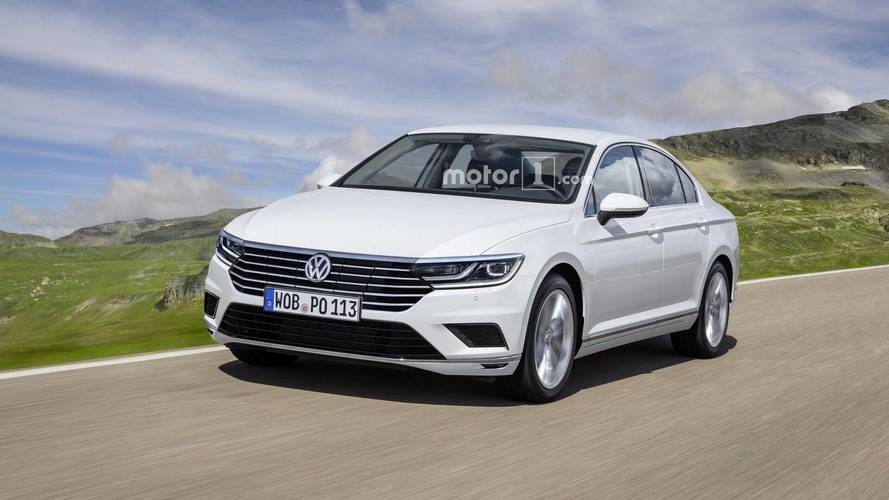 2019 VW Passat Facelift For Europe Imagined With Arteon Influences