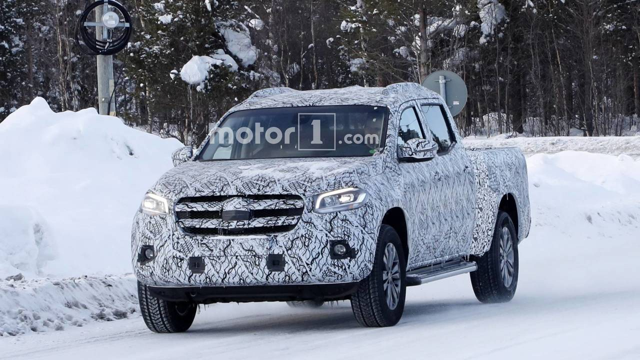 Mercedes-Benz X-Class spied with longer bed