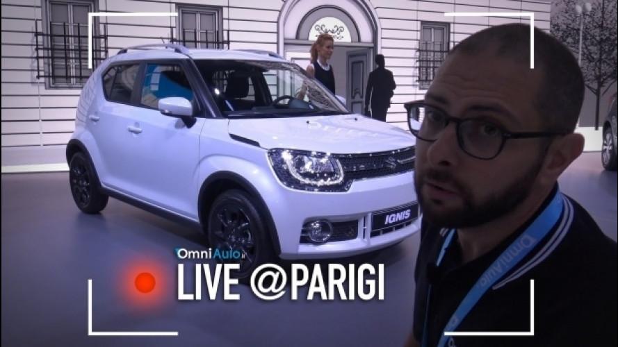 "Salone di Parigi, Suzuki Ignis, la ""anti Panda 4x4"" dal vivo [VIDEO]"