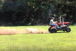 Watch a Tractor With a Chevrolet V8 Tear Things Up