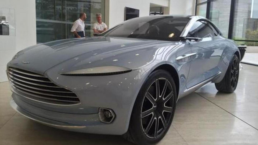 Aston Martin CEO shows off DBX concept painted in Mako Blue
