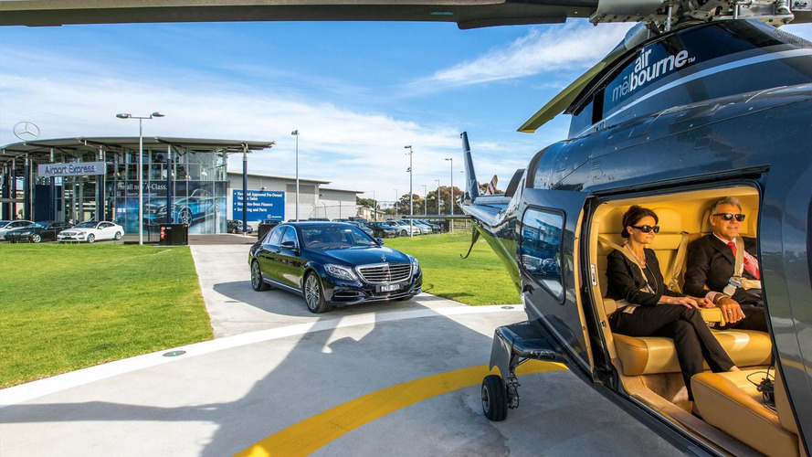 Mercedes improves the dealership shuttle experience with a twin-engine helicopter