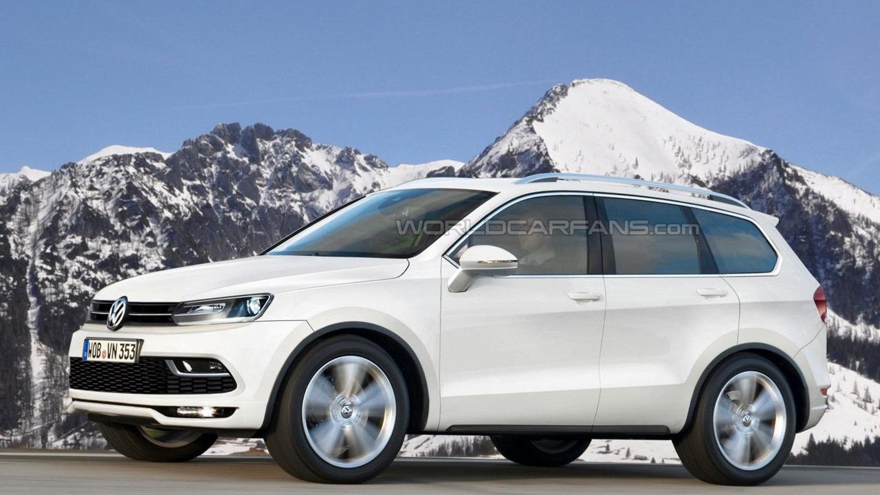 Volkswagen US-made 7-seat crossover speculative rendering 25.10.2012