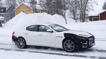 2018 Maserati Ghibli facelift spy photo