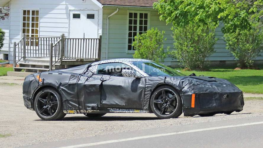 2020 Mid-Engined Chevy Corvette Spied Up Close