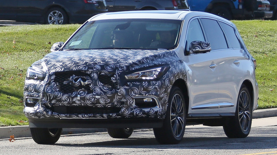 2016 Infiniti QX60 spied with front and rear makeup