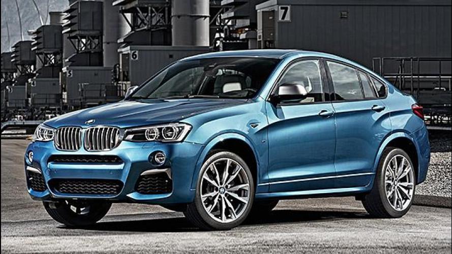BMW X4 M40i, SUV e coupé da 360 CV