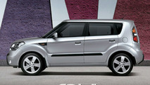 Kia Soul colored Bright Silver