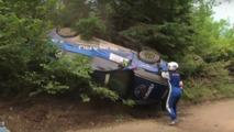 Ralli pistinde yaşanan korkunç kaza