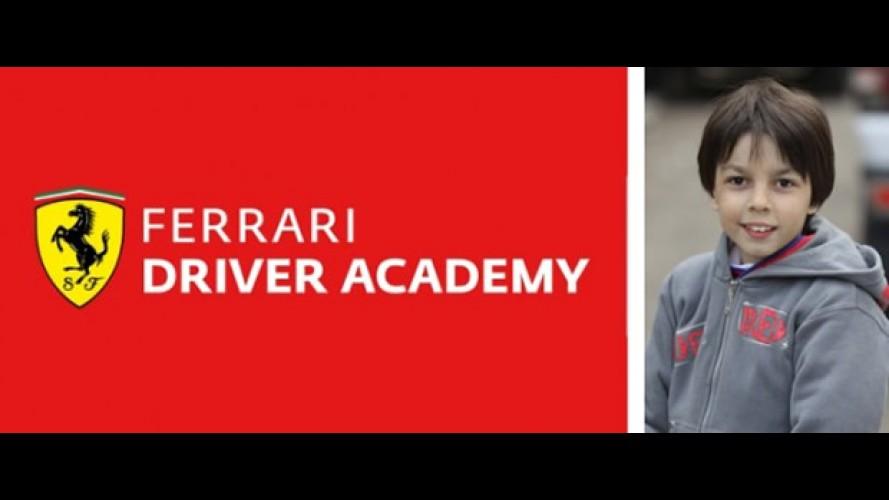 Piloto de 10 anos entra para a Ferrari
