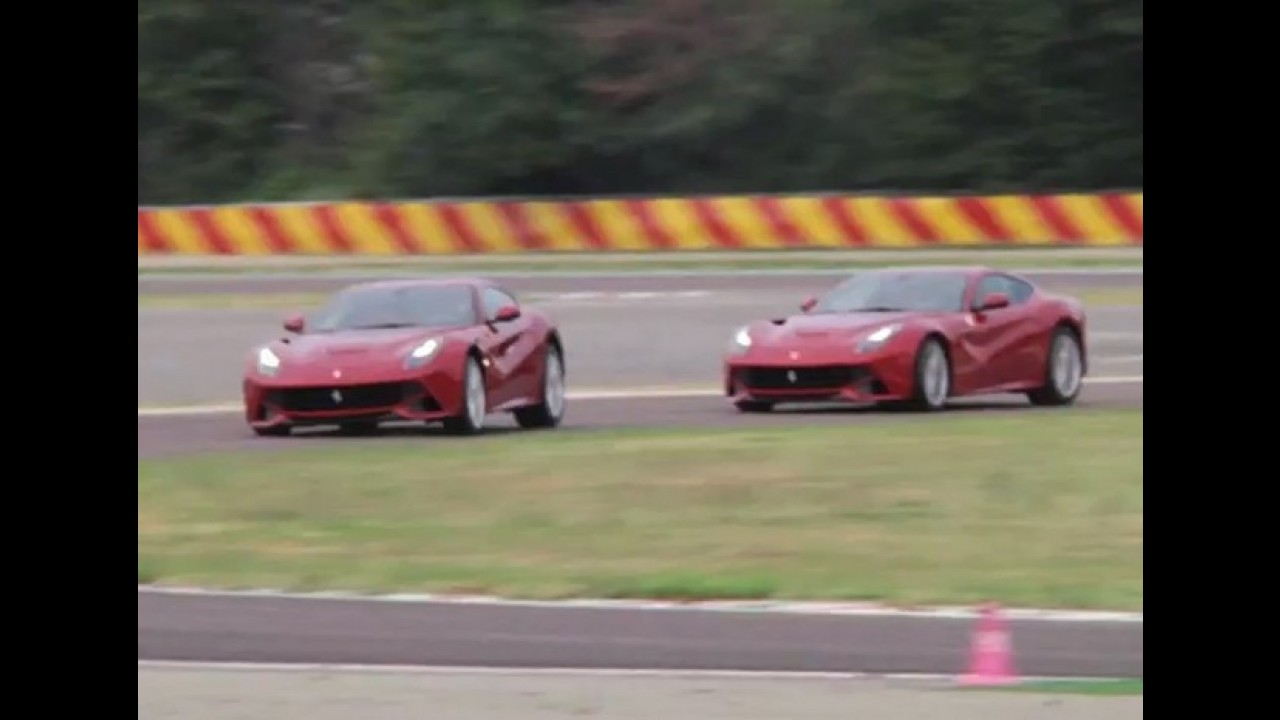 Vídeo: Massa e Alonso testam a Ferrari F12Berlinetta