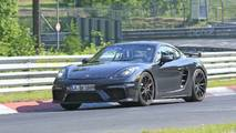 Porsche 718 Cayman GT4 facelift new spy photos