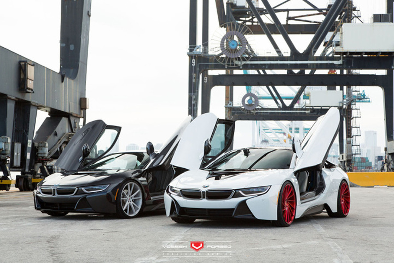 Watch Vossen's BMW i8 Duo Take Over the Port of Miami