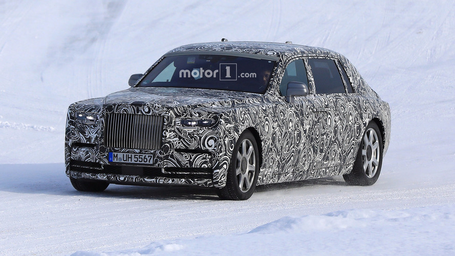 2018 Rolls-Royce Phantom Extended Wheelbase spy photos