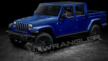 2019 Jeep Wrangler Pickup Rendering