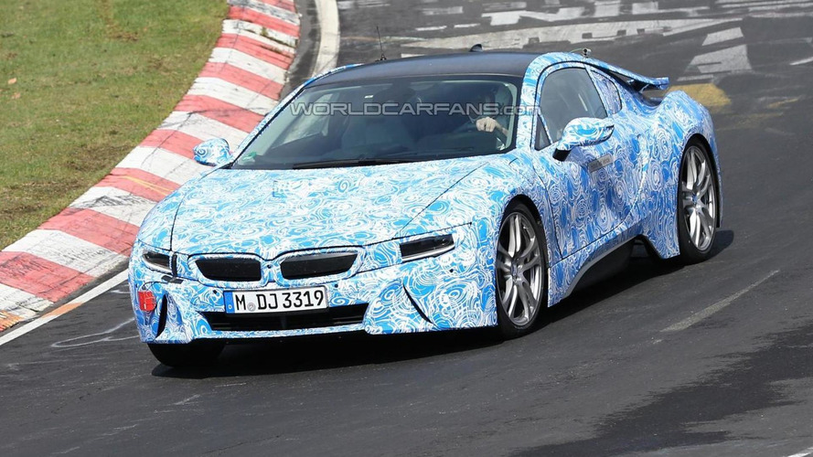 BMW i8 spied at Nürburgring with production taillights