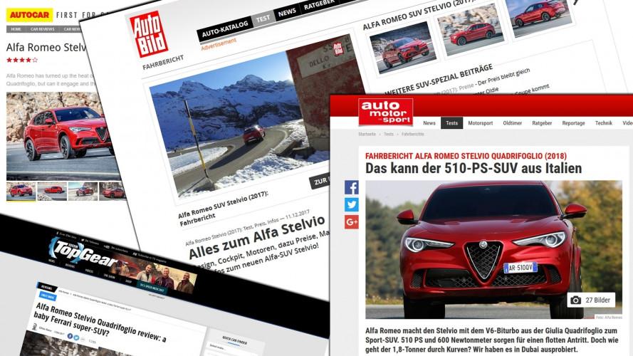 Alfa Romeo Stelvio Quadrifoglio, all'estero la giudicano così
