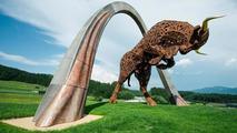 Toro Rosso statue 20.07.2013 Red Bull Ring Austria