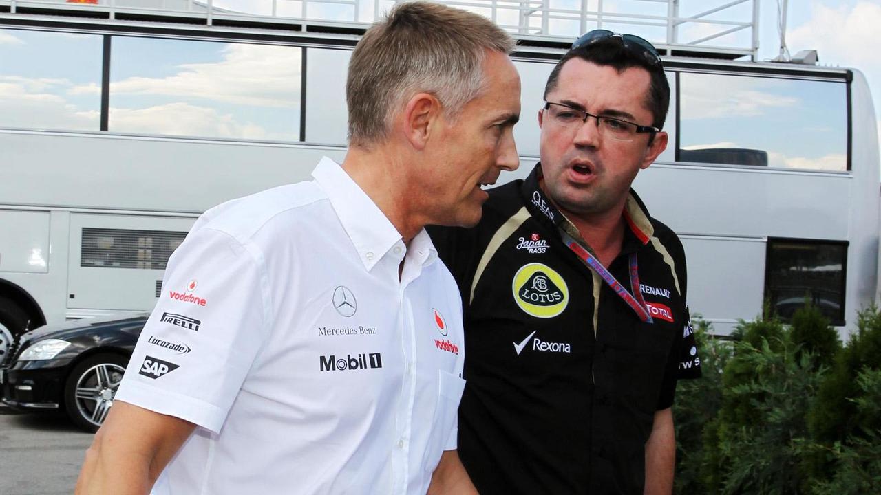 Martin Whitmarsh and Eric Boullier 27.07.2012 Hungarian Grand Prix