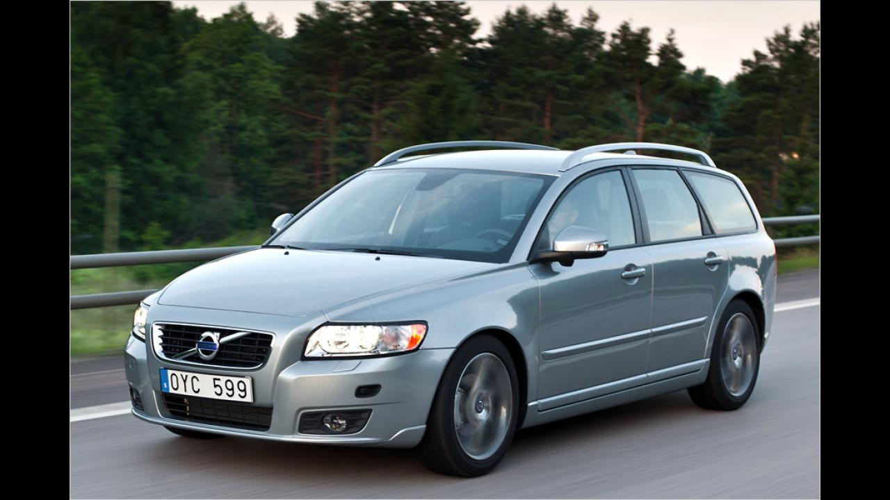 Auch vom Volvo V50 gab es nur 19 Zulassungen. Kein Wunder, der Kombi wurde schon 2012 eingestellt