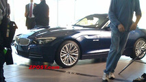 BMW Z4 in showroom