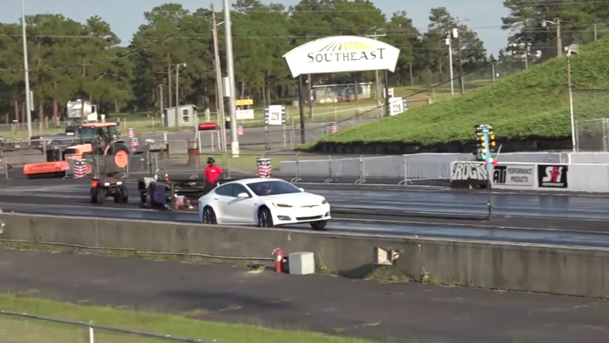 Tesla Model S P90D clocks 10.8 seconds in the quarter-mile