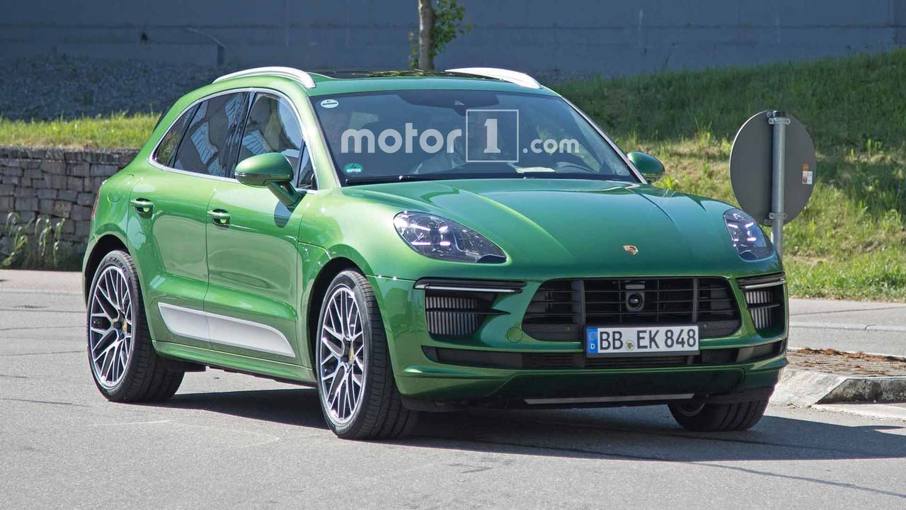 porsche macan spied looking very green during development. Black Bedroom Furniture Sets. Home Design Ideas