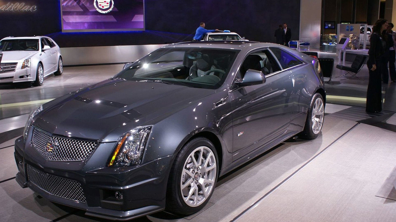 Cadillac CTS-V Coupe at 2010 NAIAS in Detroit