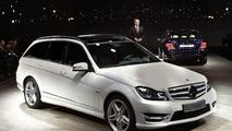 2012 Mercedes C-Class wagon live in Detroit 10.01.2011