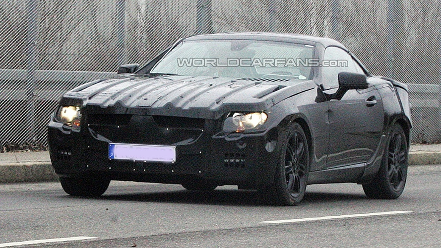Next Generation Mercedes SLK Prototype Spied Wearing Heavy Camouflage