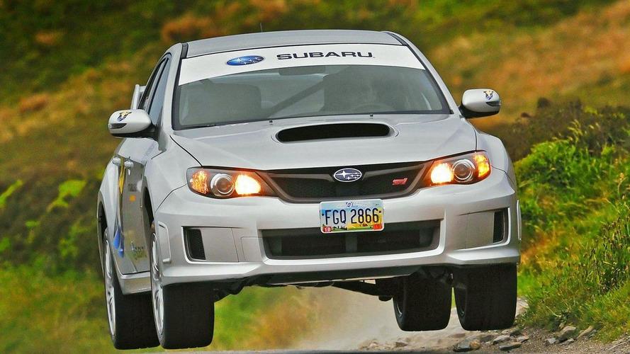Subaru driver Mark Higgins' near-miss at Isle of Man [video]
