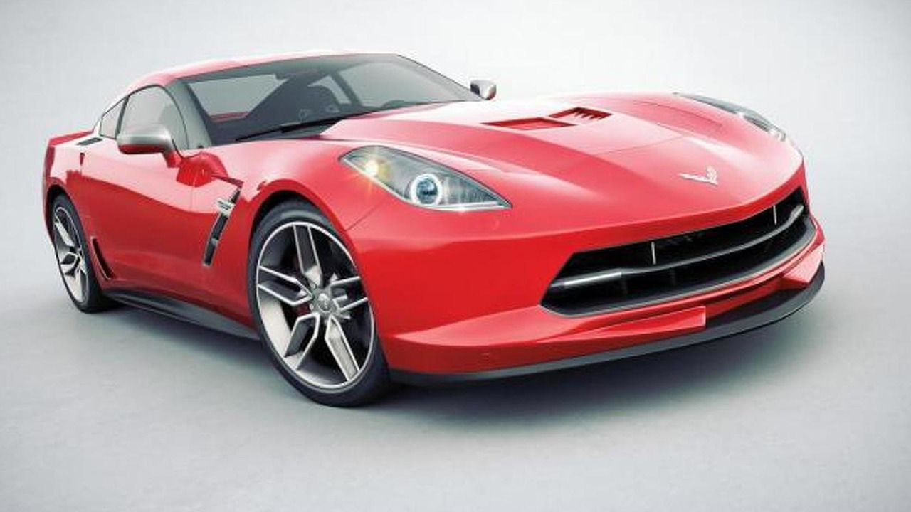 Chevrolet Corvette C7 rendering / Car and Driver