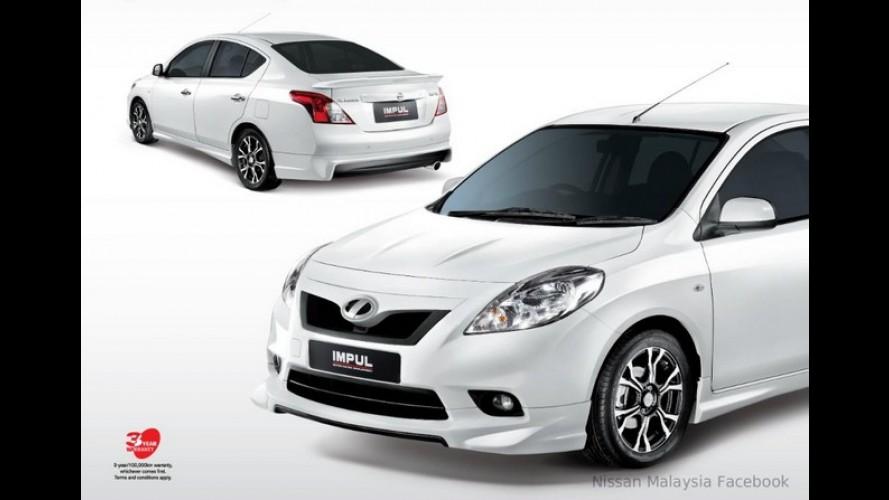 Nissan Almera (Versa) ganha versão com visual esportivo na Malásia