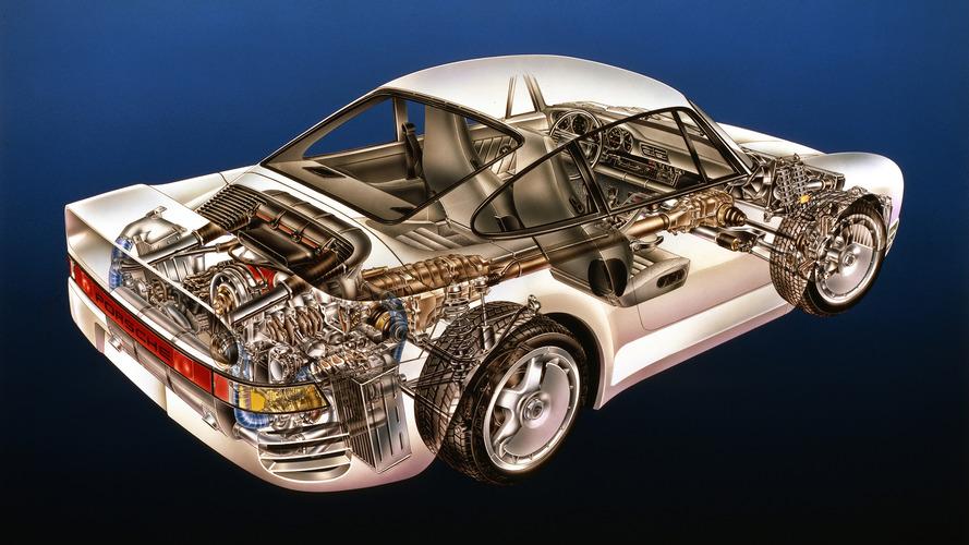 Teknik çizim: Porsche 959
