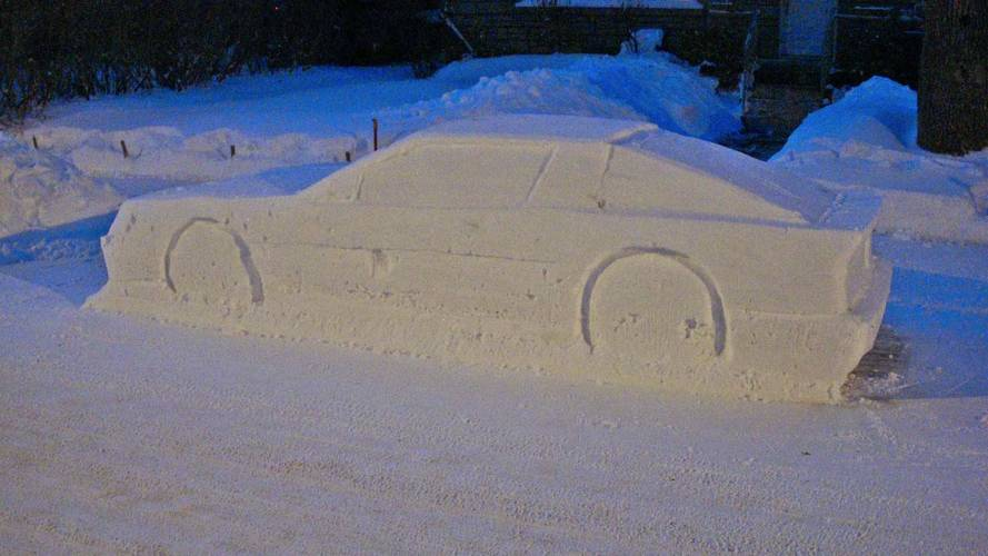 Canadian Cops Duped By Life-Size Toyota Supra Snowman