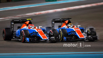 Pascal Wehrlein, Manor Racing MRT05, Esteban Ocon, Manor Racing MRT05
