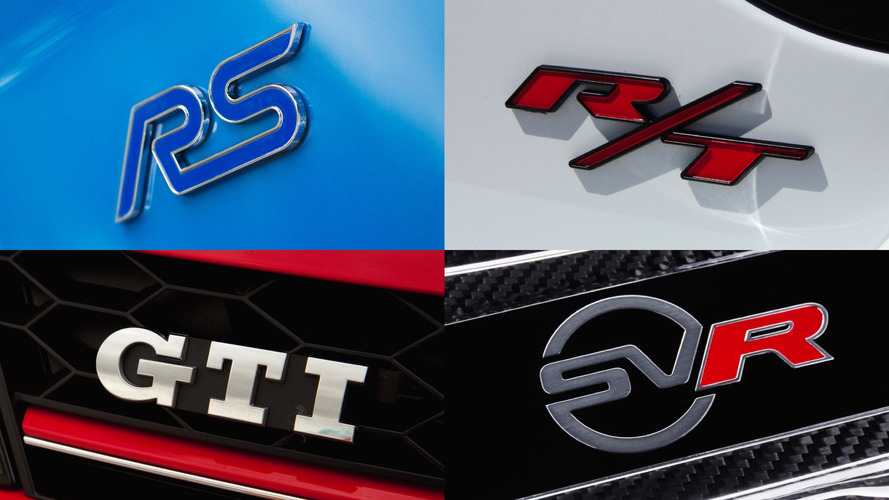 GTI, RS, SVR... que signifient ces sigles ?
