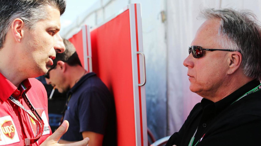 Haas makes early F1 debut as Ferrari sponsor