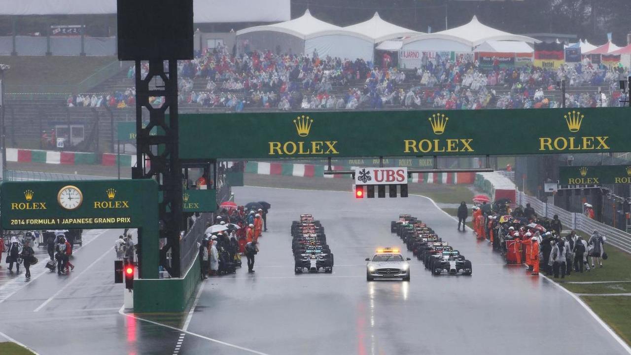 The grid before the start of the race, 05.10.2014, Japanese Grand Prix, Suzuka / XPB